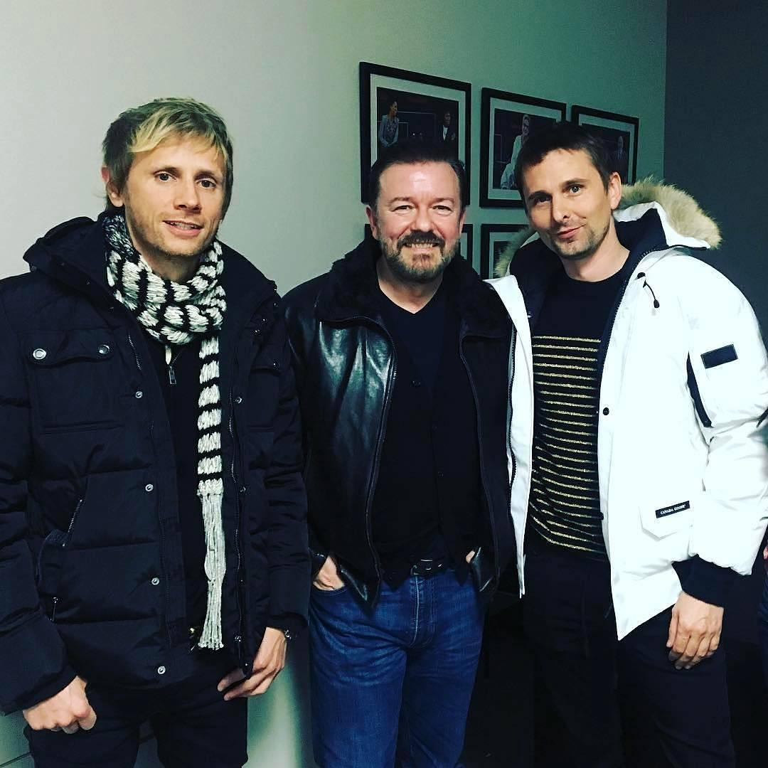 muse Matt e Dom com David Brent em Novahellip