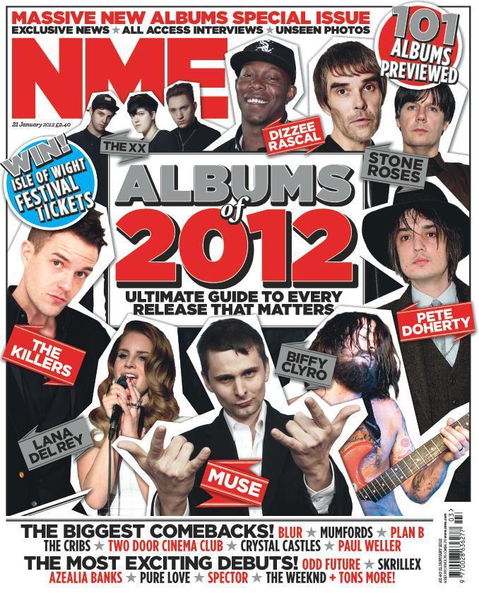 Capa da NME Janeiro 2012